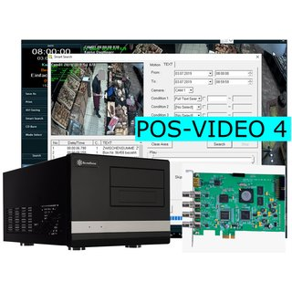 POS-VIDEO KassenVideo-Server 4 Kanal (Hardware + Software)