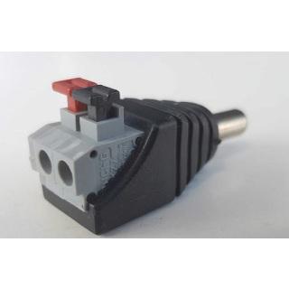 Praktischer DC Stecker, schraublos für Kameras 12V, Power Connector Male